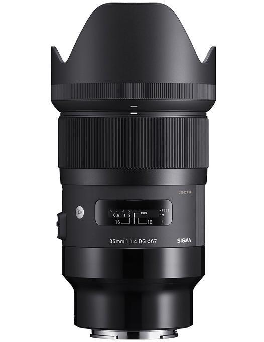 poza obiectiv Sigma 35mm F1.4 DG HSM Art montura Sony E ptomotie