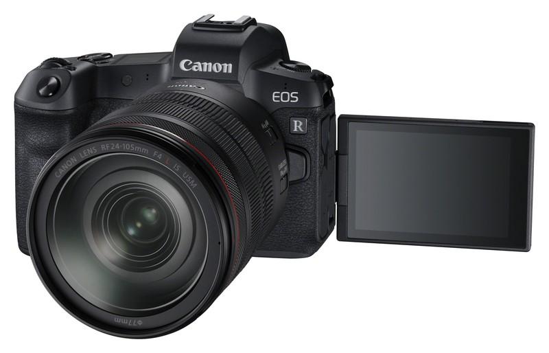 Canon EOS R poza lcd rabatabil mobil
