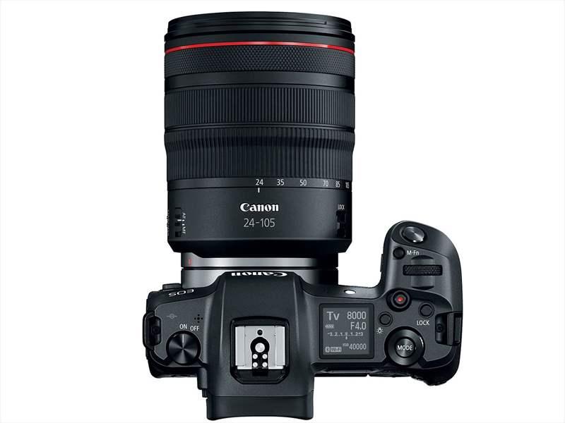 Canon EOS R poza aparat foto mirrorless