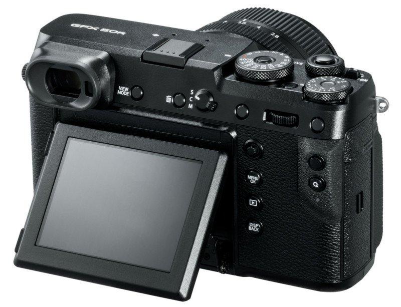 Fujifilm GFX 50R poza lcd mobil tactil aparat foto mirrorless