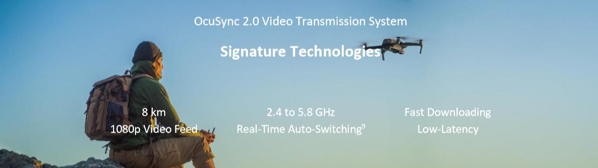 drona dji tehnologie transmitere video ocusync