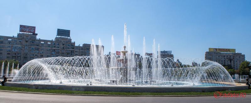 poze fantani piata Unirii Bucuresti fotografii toamna apa