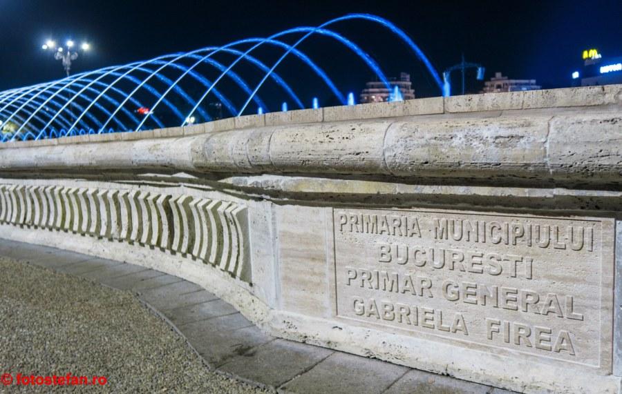 pmb gabrila firea poze fantani piata Unirii Bucuresti fotografii seara