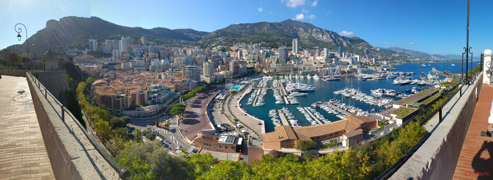 Monaco poza panoramica fotografie turistica