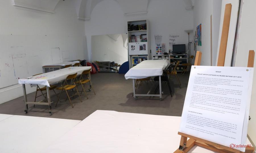 atelier pictura poze Muzeul Matisse Nisa Franta fotografii