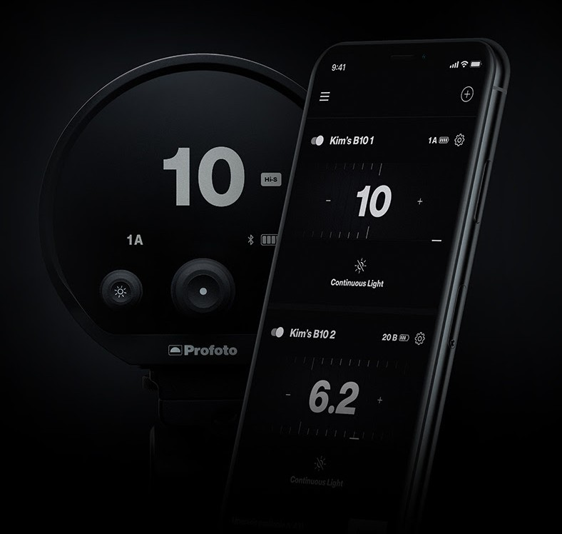poza blit profoto b10 controlat smartphone