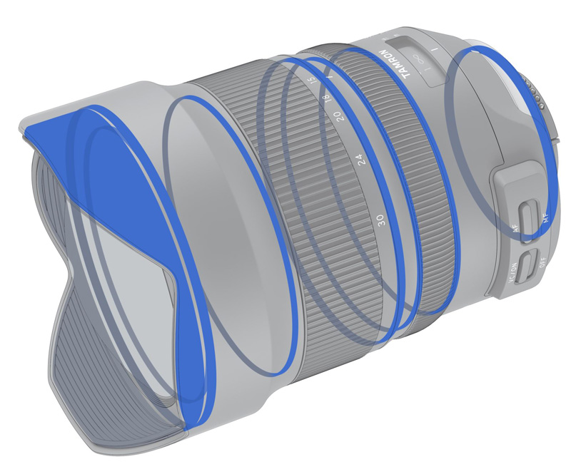 Tamron 15-30mm poza obiectiv ultra wide rezistent intemperii