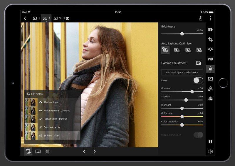 Canon Digital Photo Professional Express program gratui prelucrare poze ipad