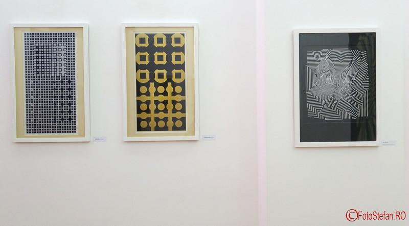 Victor Vasarely poze expozitie muzeul de arta timisoara