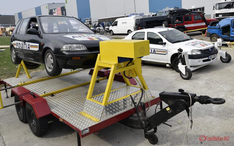 Salonul Auto Bucuresti 2018 Romexpo fotografii politia simulator rasturnare