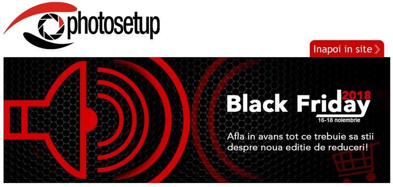 Black Friday magazin foto romania aparate foto accesorii
