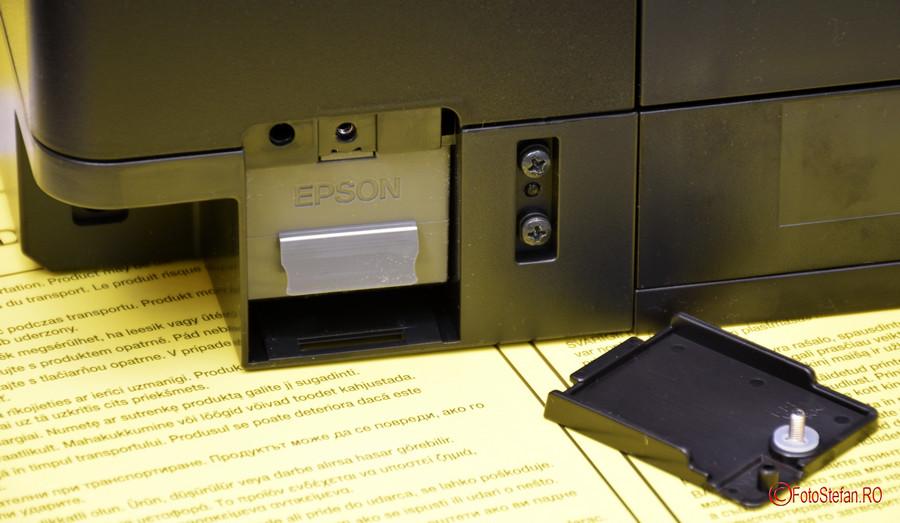 poza cutie mentenanta imprimanta jet cerneala Epson L7160 review