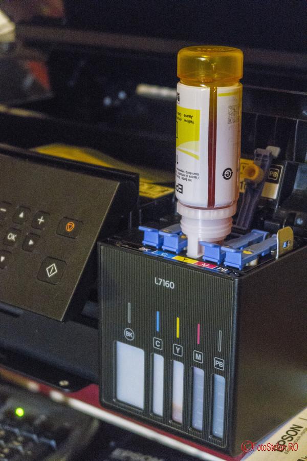 Epson L7160 review test poze umplere rezervor cerneala