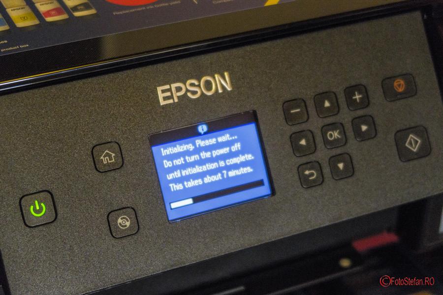poza initializare imprimanta foto jet cerneala 5 culori Epson L7160 review