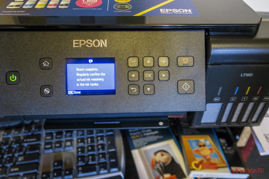 Epson L7160 review test initializare imprimanat foto 5 culori