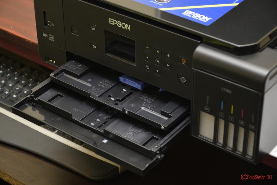 poza casete tavi hartie Epson L7160 review test