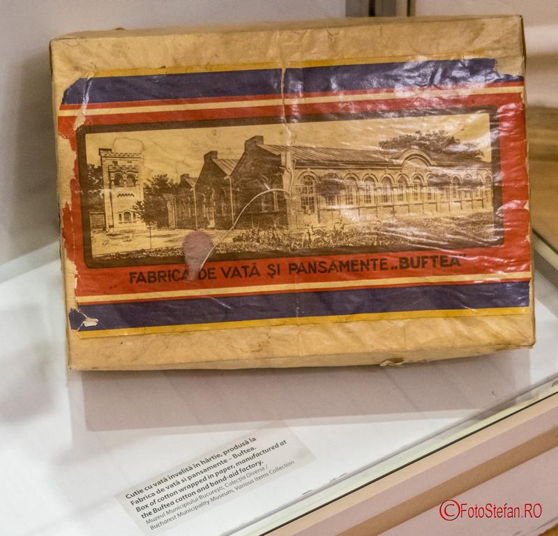 poza cutie vata pansamente fabrica buftea muzeul victor babes