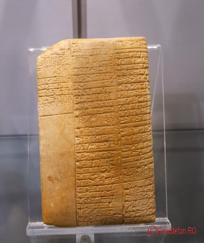 poza tablita medicla sumeriana lut muzeul victor babes