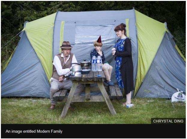 Chrystal Ding fotografa poze familie moderna cort
