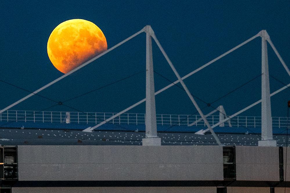 poza eclipa luna stadion rusia Kaliningrad