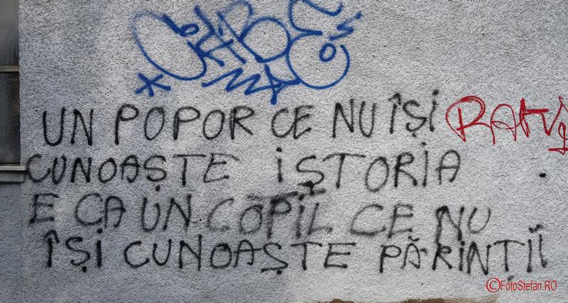 Traseul Revolutiei Timisoara decembrie 1989 poze graffiti scris