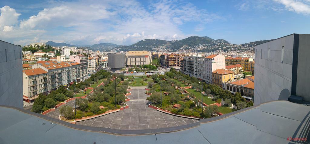 fotografie photo panorama Nice France park building travel photography