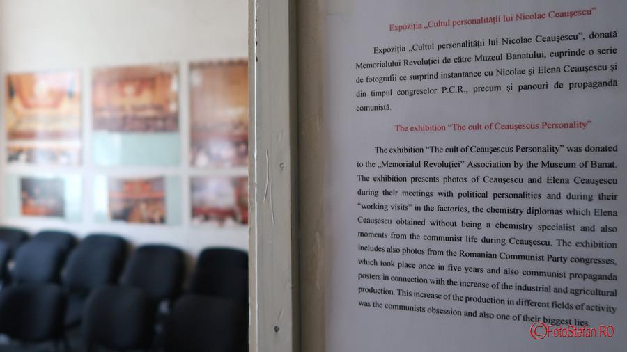 fotografii expozitie cultul personalitatii ceausescu muzeul Memorialul Revolutiei Timisoara