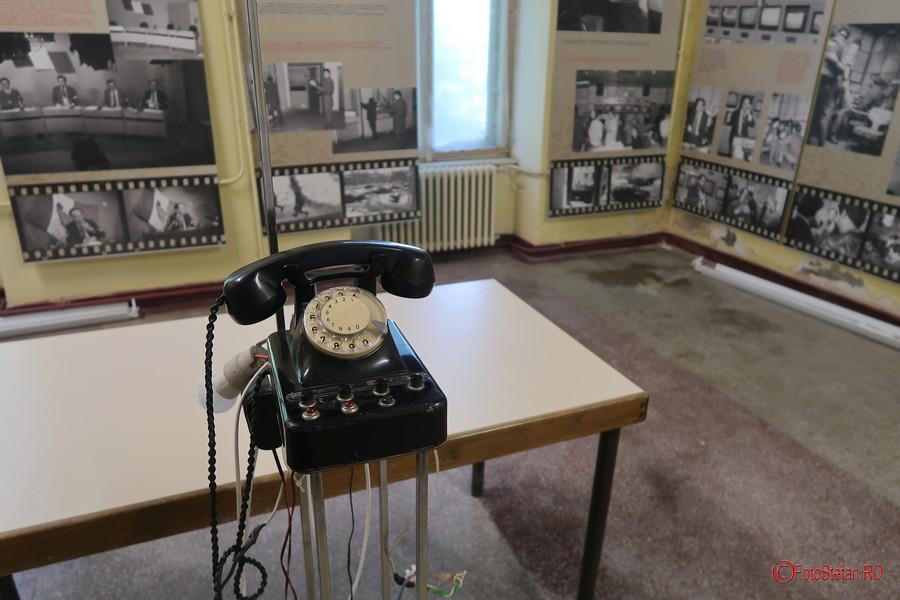 poza telefon cu disc fotografii muzeul Memorialul Revolutiei Timisoara Romania