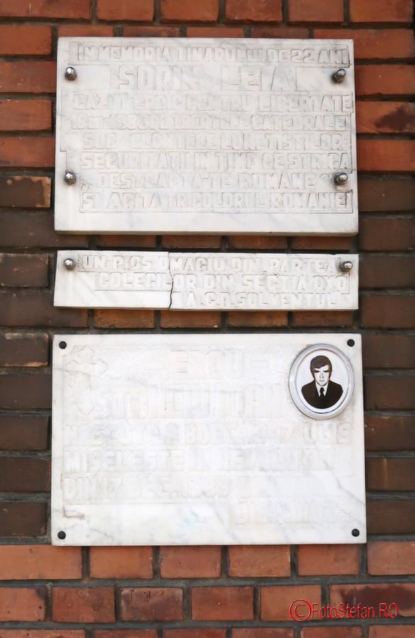 poza placa comemoratica fotografie victima revolutie decembrie 1989 timisoara romania