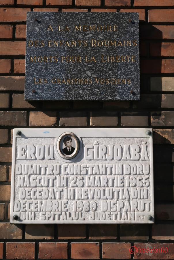 fotografie placa comemorativa evenimente decembrie 1989 timisoara romania