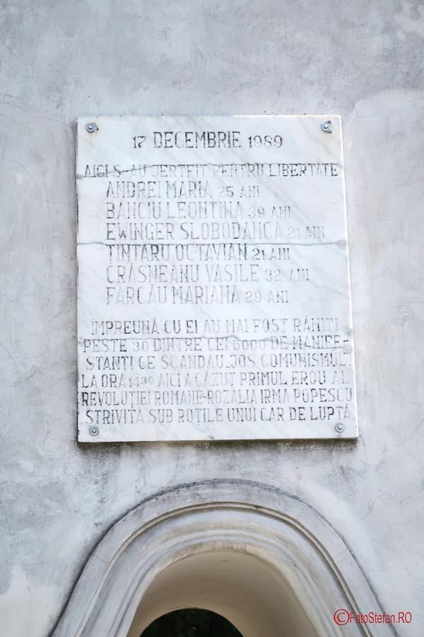 poza placa comemorativa podul Decebal timisoara romania