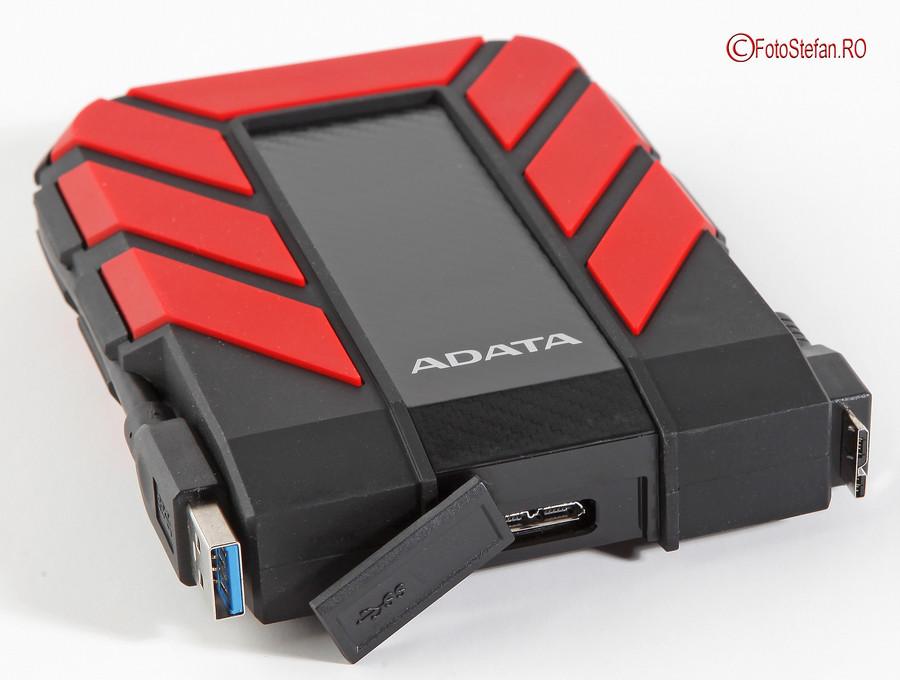 poza conexiune usb 3.1 hdd ectern ADATA HD710 Pro 4TB carcasa rezistenta