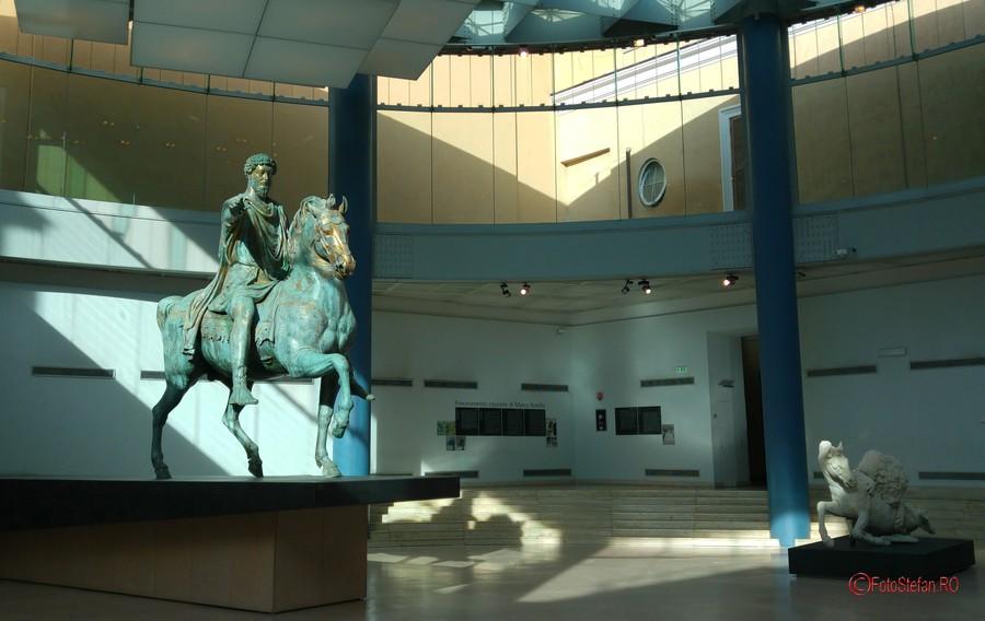 fotografii calatorie smartphone marcus aurelius statuie muzeul capitoline roma italia