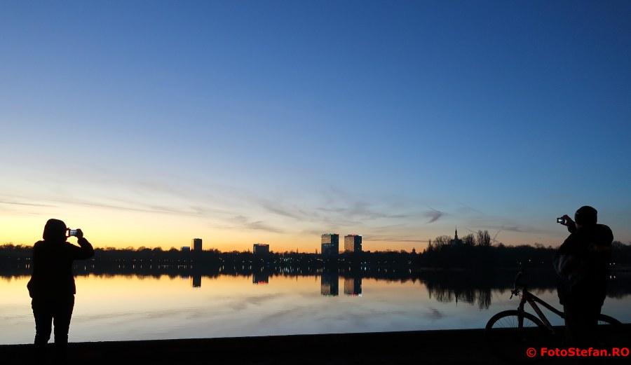 fotografii calatorie smartphone bucuresti lac parc herastrau apus