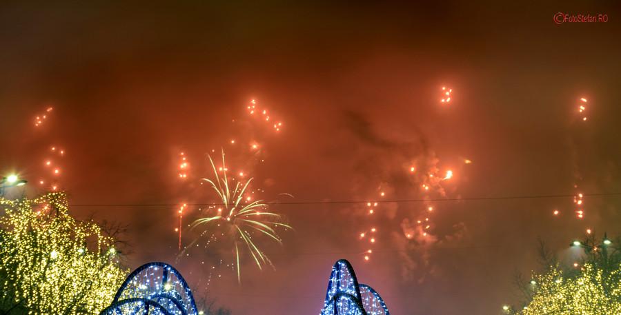 fotografii Artificii revelion 2019 Bucuresti poze Romania