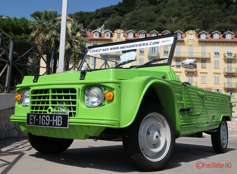 citroen verde poza masina franceza City break la Nisa