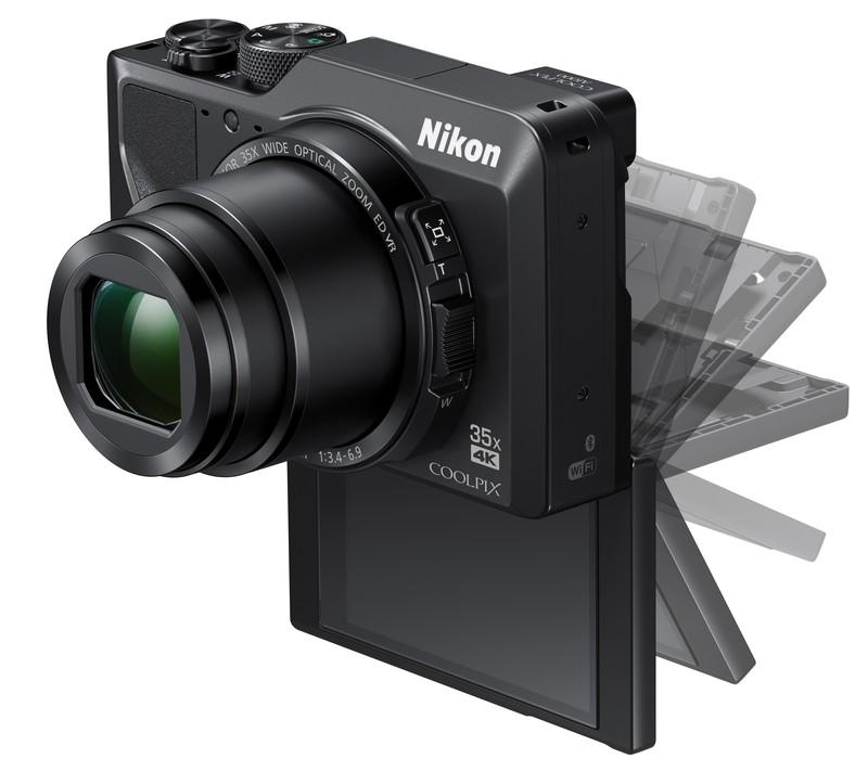 poza compact Nikon COOLPIX A1000 lcd mobil tactil