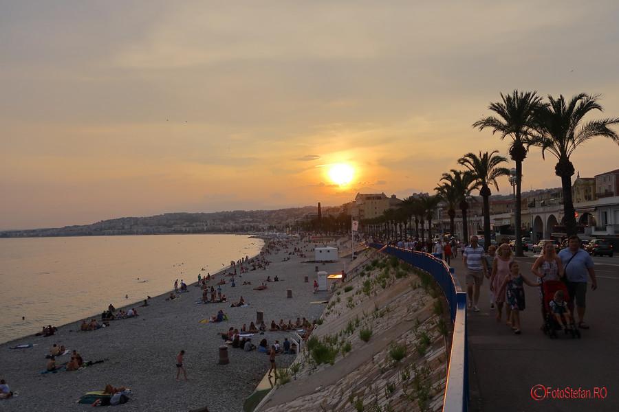 poza apus Promenade des Anglais nisa nice france sunset