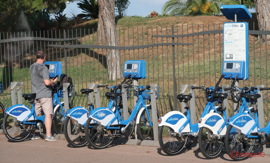 poza biciclete inchiriere velo bleu nisa franta