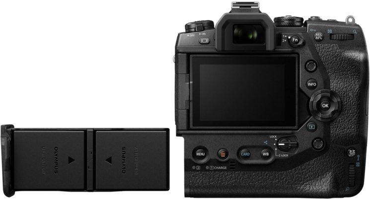Olympus OM-D E-M1X poza acumulatori aparat foto mirrorless
