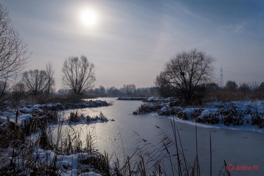poze iarna lac gheata parc natural vacaresti bucuresti