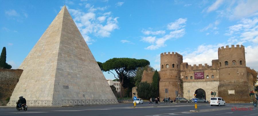 piramida roma italia fotografii calatorie smartphone
