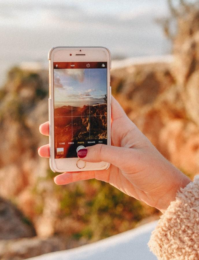 fotografie de calatorie smartphone regula treimilor