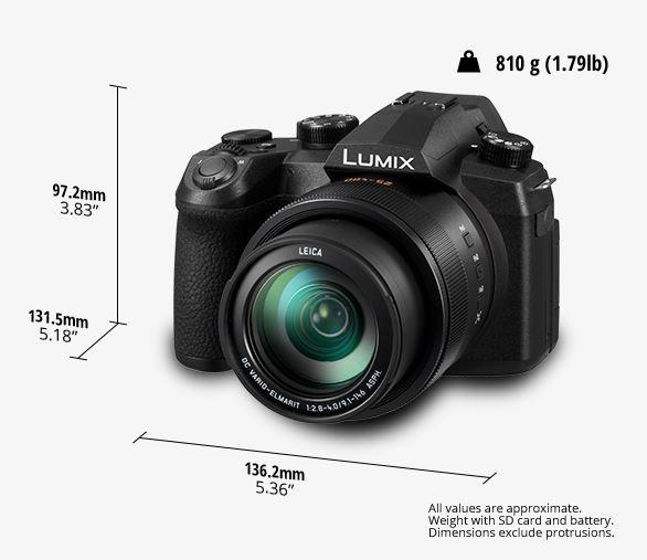 dimensiuni aparat foto Panasonic Lumix FZ1000 II