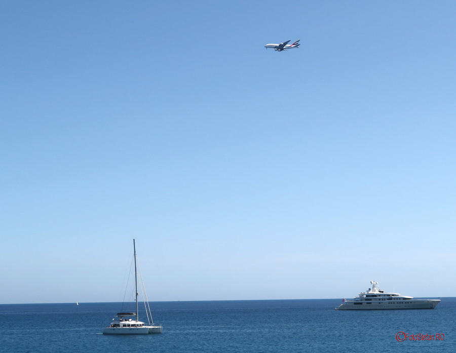Plane Spotting antibes franta poza avion yacht