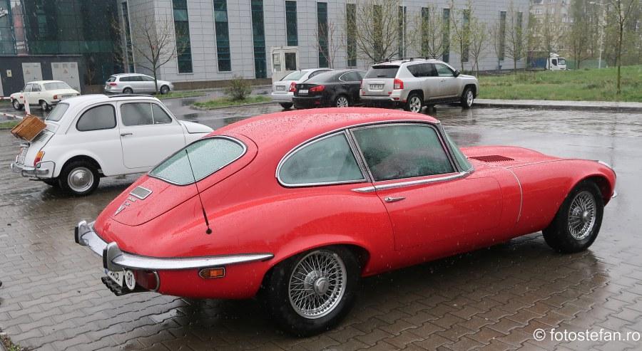 poza fotografie jaguar e type v12 rosu bucuresti romania