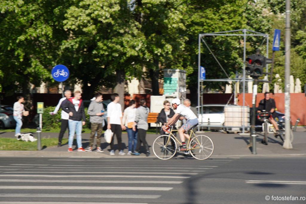 fotografie biciclist panning bucuresti