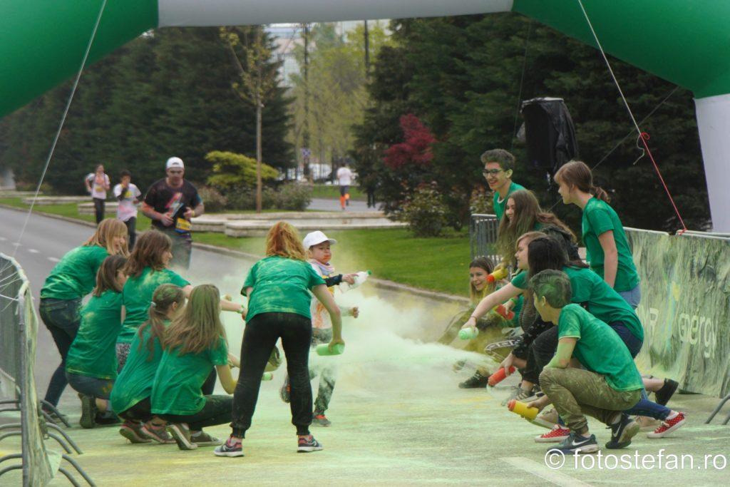 fotografii poze color run bucuresti alergare 5km