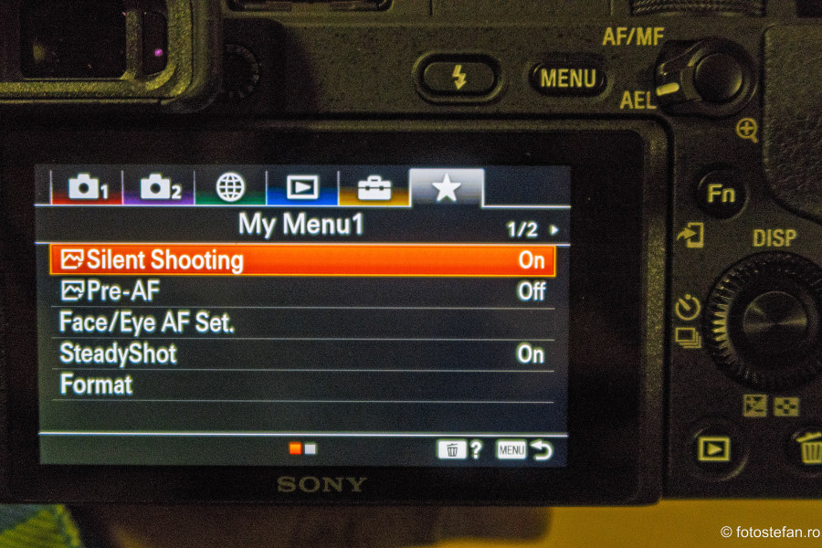poza setari aparat foto Sony a6400 review