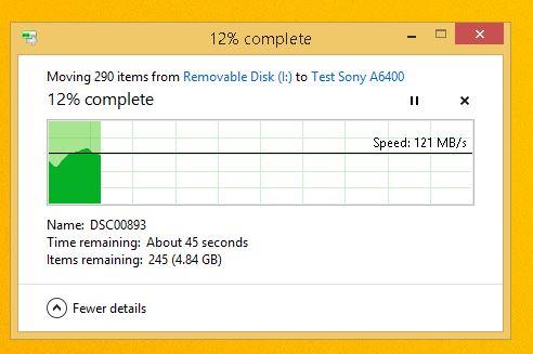 test viteza card memorie Sony SF-G 32GB poze